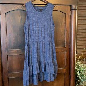 Lane Bryant navy marled knit dress